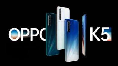 صورة الإعلان الرسمي عن الهاتف الجديد Oppo K5 مع كاميرا بدقة 64 ميجابيكسل ومعالج Snapdragon 730G