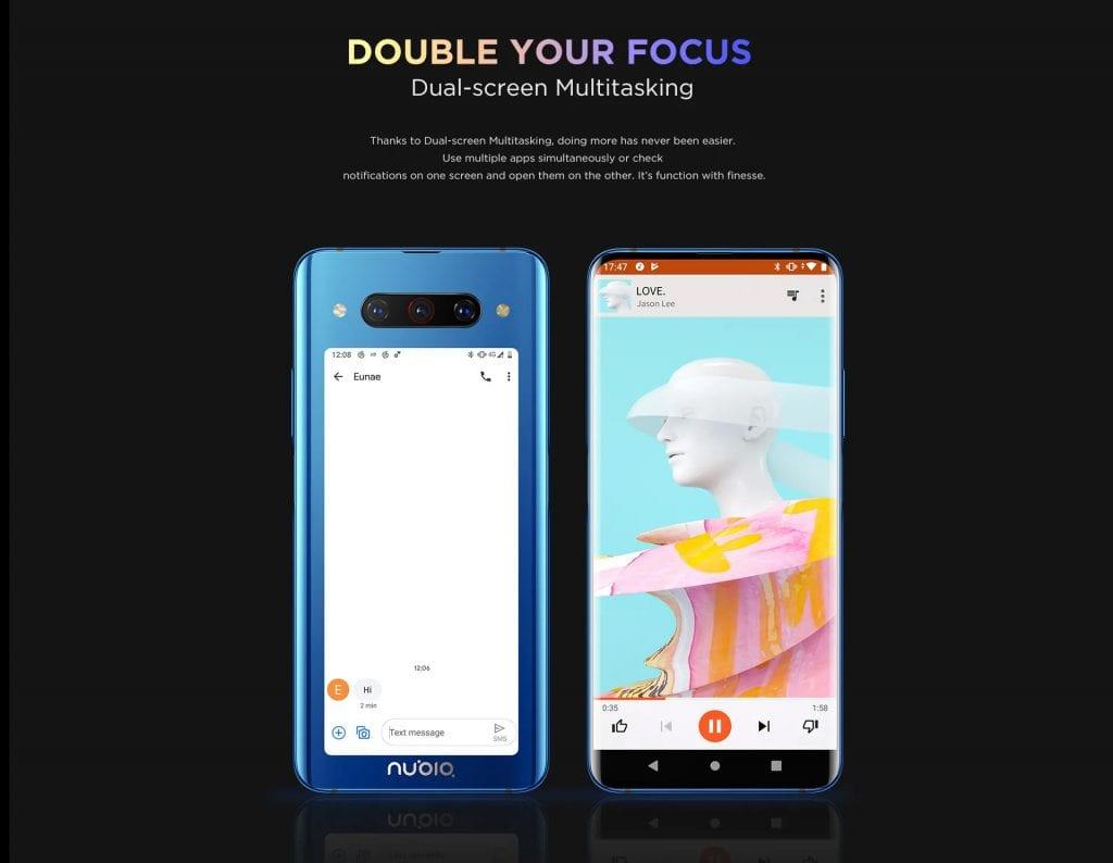 الهاتف الذكي Nubia Z20 المزود بشاشتين أمامية وخلفية متاح الآن على الصعيد العالمي