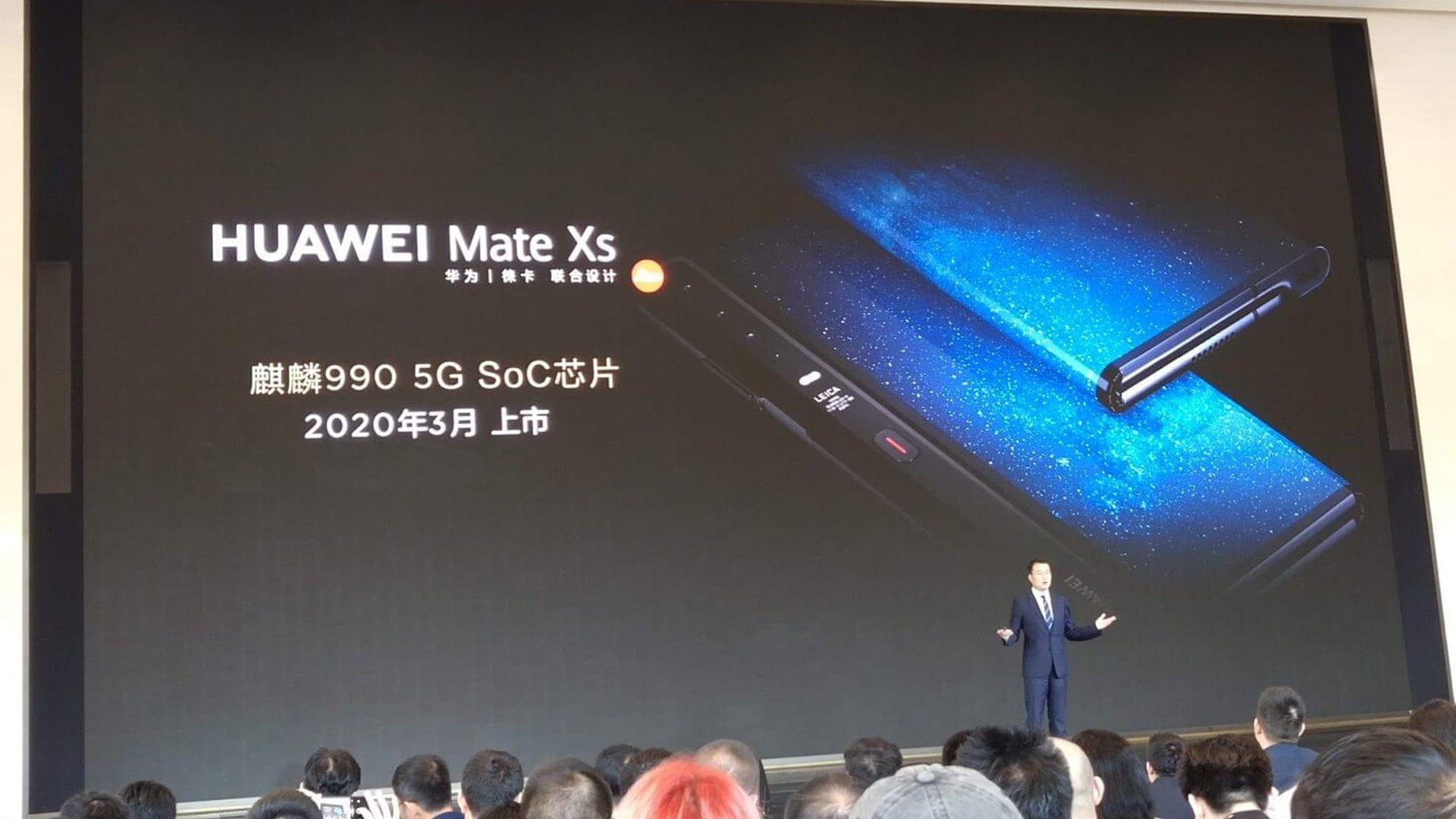 شركة Huawei تجهز لإطلاق هاتفها القادم القابل للطيً Mate Xs في 2020 بمعالج Kirin 990 5G