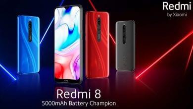 صورة كشف النقاب رسمياً عن الهاتف الجديد Redmi 8 بكاميرا مزدوجة وبطارية 5000 مللي أمبير