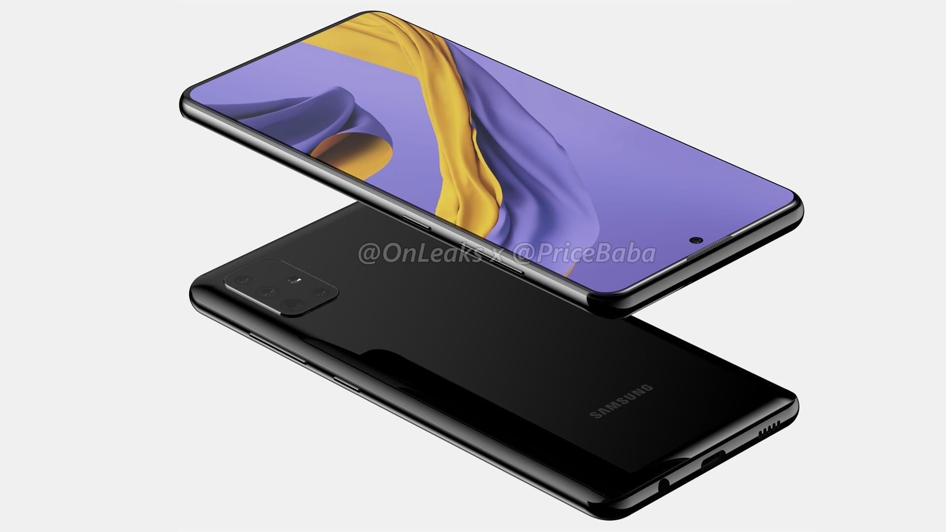 تسريبات إعلامية مصورة تستعرض التصميم المتوقع لهاتف سامسونج القادم Galaxy A51