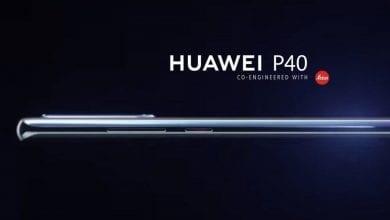 تسريب أول صورة رسمية للهاتف القادم Huawei P40 بشاشة منحنية الطرفين بحجم 6.57 إنش