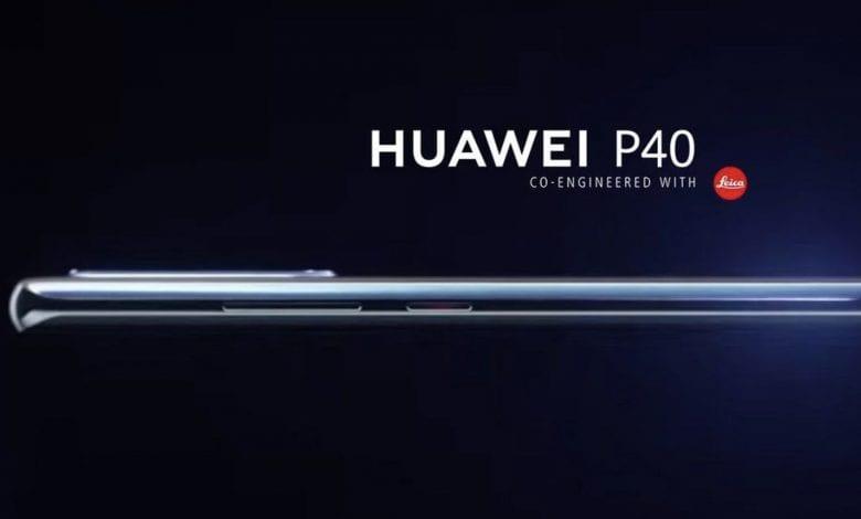صورة تسريب أول صورة رسمية للهاتف القادم Huawei P40 بشاشة منحنية الطرفين بحجم 6.57 إنش