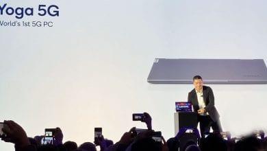 صورة الإعلان رسميًا عن Lenovo Yoga 5G، وهو أول حاسوب يدعم شبكات 5G في العالم