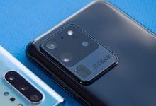 صورة الفرق بين مساحات مقاطع الفيديو مع دقة 8K و 4K و 1080 على هاتف Galaxy S20 Ultra