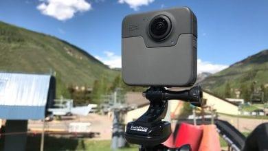 صورة تشير العلامة التجارية GoPro Max وتسرب الصور إلى استبدال Fusion ، مع وجود شاشة