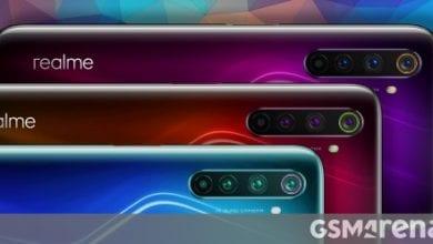 صورة تُظهر عروض الضغط المسقطة Realme 6 Pro ثلاثة خيارات للألوان