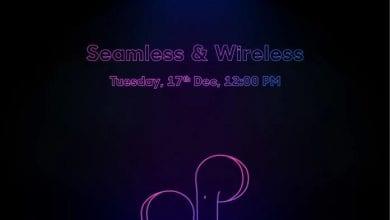 صورة سماعات الأذن اللاسلكية الحقيقية من شركة Realme ستصل في اليوم 17 ديسمبر