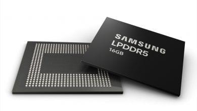 صورة سامسونج تبدأ عملية الإنتاج الضخم لرقاقة الذاكرة العشوائية Samsung 16GB LPDDR5