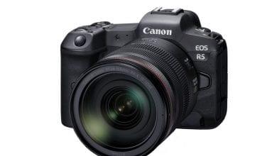 Photo of Canon EOS R5 هي كاميرا 8K قوية الإطار الكامل مع IBIS