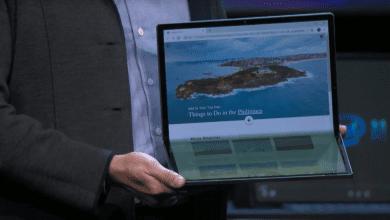 صورة إنتل تعرض منصة Tiger Lake على جهاز لوحي قابل للطي 17 بوصة #CES220