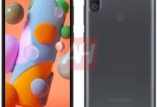 Photo of الهاتف Galaxy A11 يظهر في صورة رسمية مُسربة مع ثقب في الشاشة وثلاث كاميرات في الخلف