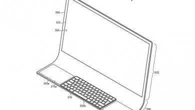 صورة براءة إختراع تكشف عن رؤية ابل المستقبلية في تصميم Mac بشاشة منحنية