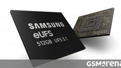 صورة تبدأ Samsung بالإنتاج الضخم 512 جيجابايت eUFS 3.1