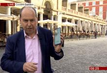 صورة تجربة شبكة BBC الإخبارية تؤكد على أن البث عبر شبكات 5G يستهلك البيانات بشكل سريع