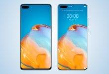 صورة تسربت صور P40 و P40 من Huawei ، تم عرض أنماط شاشة مختلفة
