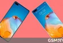 صورة تظهر الصور المسربة الجديدة الجزء الأمامي من Huawei P40 و P40 Pro