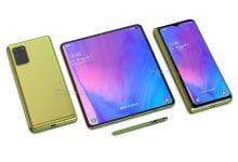صورة تظهر العروض الجديدة كيف يمكن أن يبدو Samsung Galaxy Fold 2