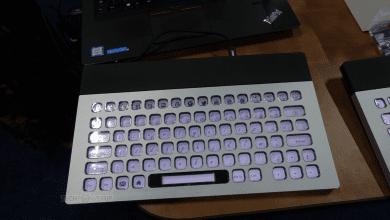 صورة لوحة مفاتيح E Ink من Nemeio تدعم تخصيص كل المفاتيح  #CES2019
