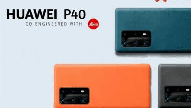 صورة ملصق إعلاني جديد يكشف عن الألوان التي ينطلق بها هاتفي P40 وP40 Pro