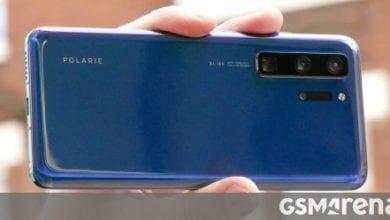 صورة نموذج عملي مبكر P40 من Huawei يكشف عن التصميم