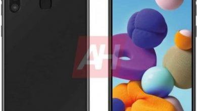 صورة Galaxy A21 يظهر في تسريب جديد مع أربع كاميرات في الخلف وشاشة Infinity-O