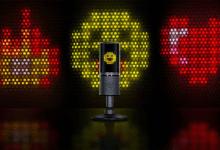 صورة Razer تكشف عن ميكروفون RGB بميزة عرض رموز تعبيرية تفاعلية أثناء البث