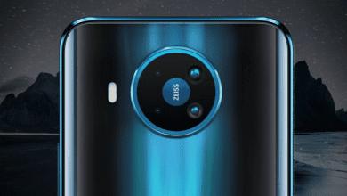 صورة إعلان تشويقي يكشف عن تصميم الكاميرة في نموذج هاتف Nokia 7.3