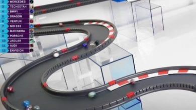صورة فريق الفورمولا إي يتدحرج بسباق من الرخام خلال التأجيل للوباء