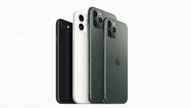 صورة مقارنة بين هاتف iPhone SE 2020 وسلسلة هواتف iPhone 11
