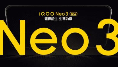 صورة هاتف iQOO Neo 3 5G يأتي في 23 من أبريل بمعدل تحديث 144Hz