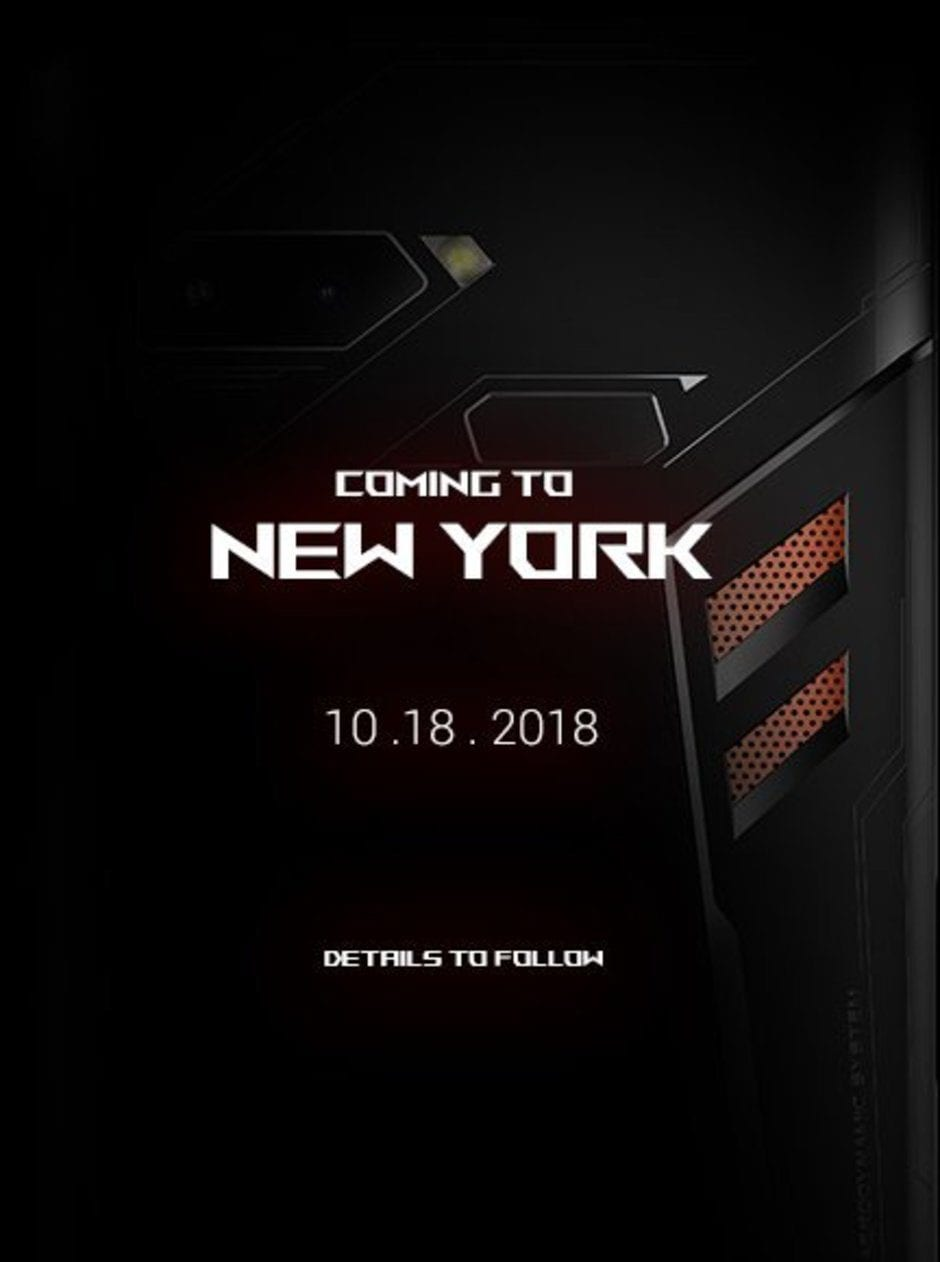 Asus announces October 18 event for ROG Phone
