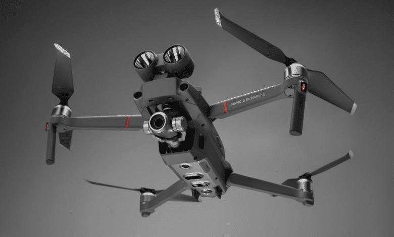 صورة طائرة DJI الجديدة Mavic 2 Enterprise تدعم مهام البحث والإنقاذ