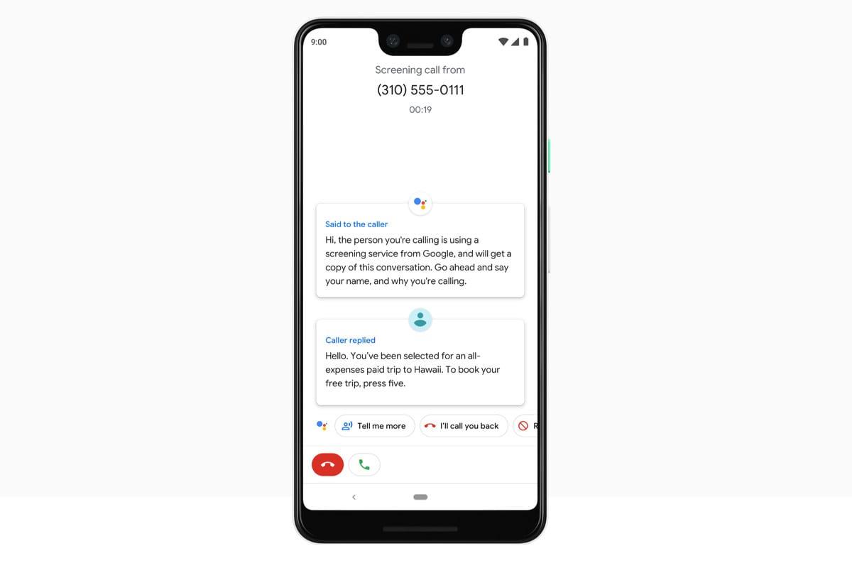 Google Assistant will screen spam calls