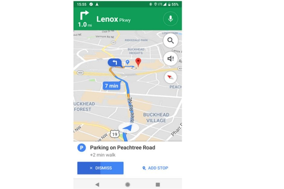 Google-Maps-suggestions-for-parking