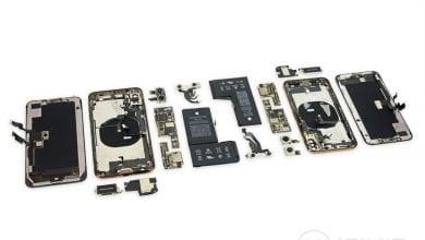 صورة عملية تفكيك هاتفي آيفون XS و XS Max تكشف عن البطاريات وتفاصيل المكونات الداخيلة