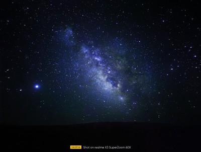 صورة لطريقة درب التبانة مع وضع النجوم Realme X3 SuperZoom