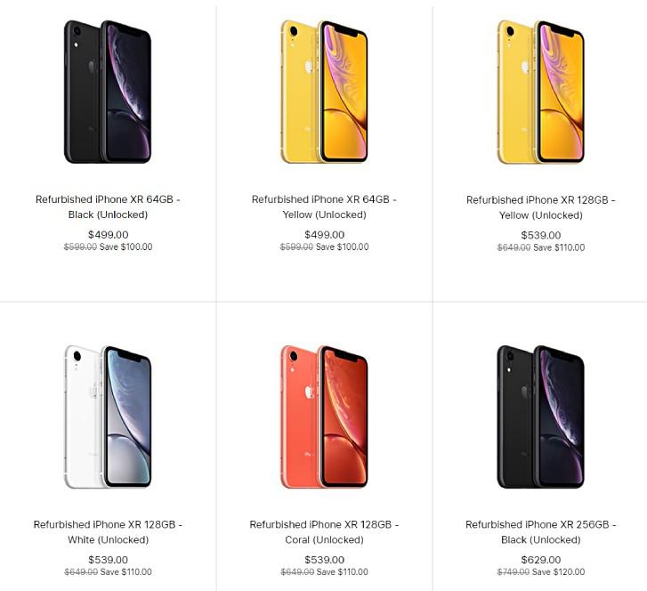 بدأت Apple ببيع وحدات iPhone XR المجددة في الولايات المتحدة