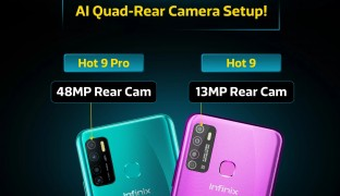 Infinix Hot 9 Pro مع كاميرا 48 ميجابكسل و Hot 9 مع كاميرا 13 ميجابكسل