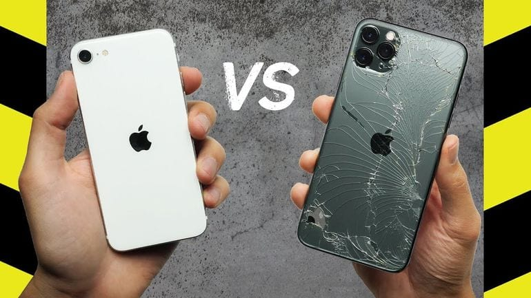 شاهد كيف إستطاع iPhone SE 2020 الجديد التفوق على iPhone 11 Pro في إختبارات السقوط