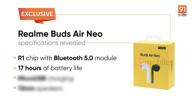 ميزات Realme Buds Air Neo الرئيسية وتسريبها