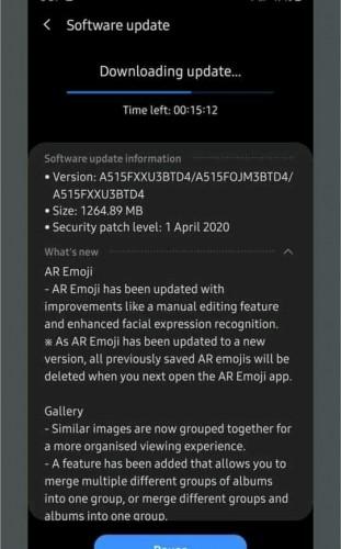 يحصل Samsung Galaxy A51 على تصحيح أمان One UI 2.1 و April مع آخر تحديث