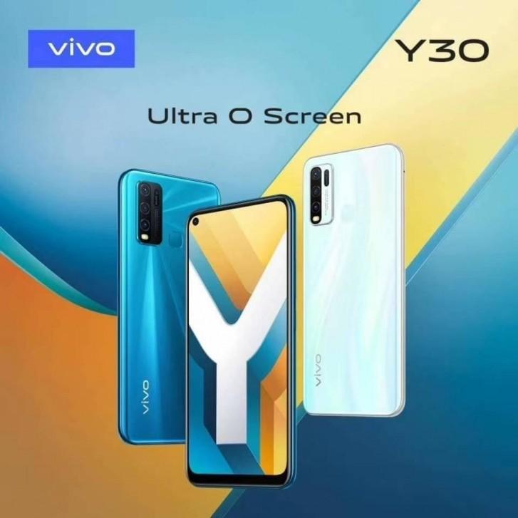 يصل Vivo Y30 غير المُعلن للبيع مع أربع كاميرات في الخلف