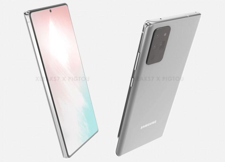 يُزعم أن Samsung Galaxy Note 20 يزعم أن CAD تتسرب مع إعداد كاميرا Galaxy S20 Ultra