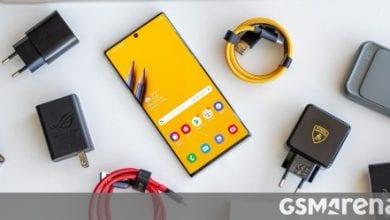 صورة يحتوي Samsung Galaxy Note20 + على بطارية 4500 mAh وكاميرا 108MP