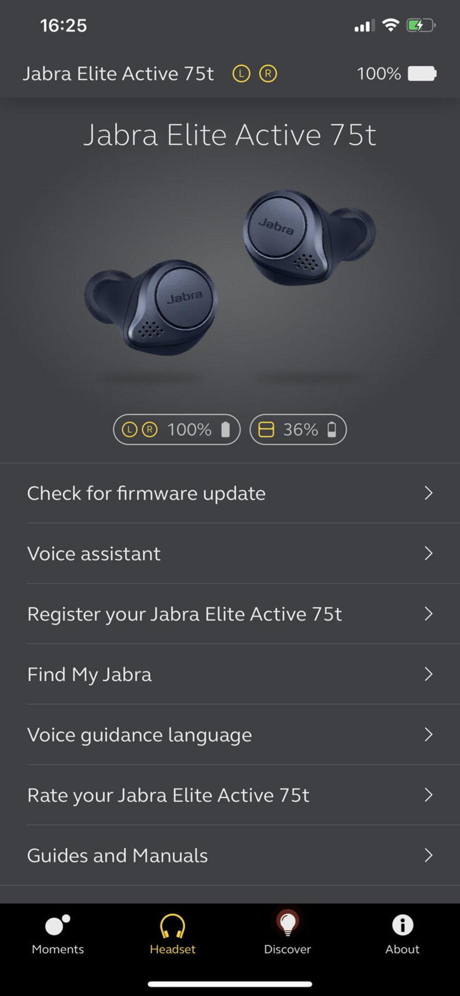 تطبيق Jabra Sound + - مراجعة Jabra Elite Active 75t