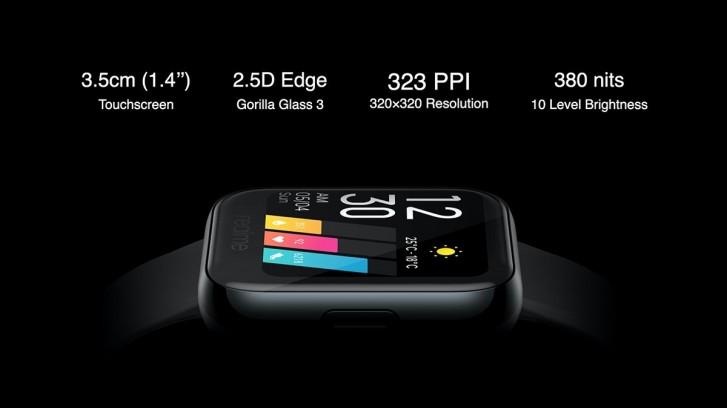 أعلنت Realme Watch: شاشة ملونة تعمل باللمس 1.4 بوصة وشاشة SpO2 وبطارية تصل إلى 9 أيام