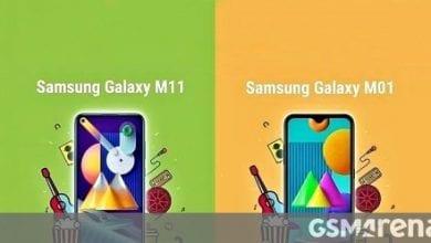 Photo of إطلاق Samsung Galaxy M01 و M11 في الهند في 2 يونيو
