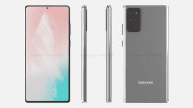 صورة رسومات حاسوبية مُسربة تستعرض لنا تصميم Galaxy Note 20 من زوايا مُختلفة