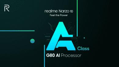 صورة Realme تؤكد على دعم هاتف Realme Narzo 10 برقاقة Helio G80